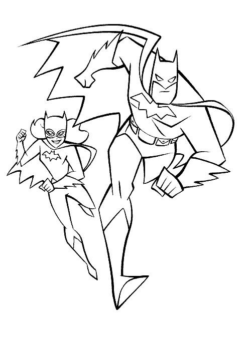 Batman And Batgirl Coloring Pages