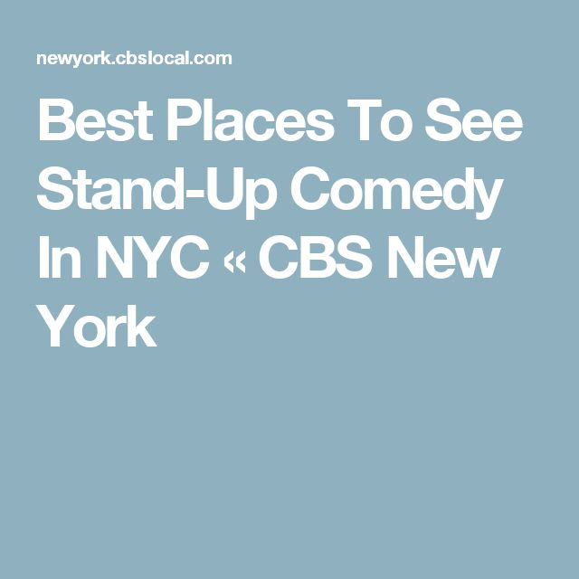 Best Places To See Stand-Up Comedy In NYC « CBS New York