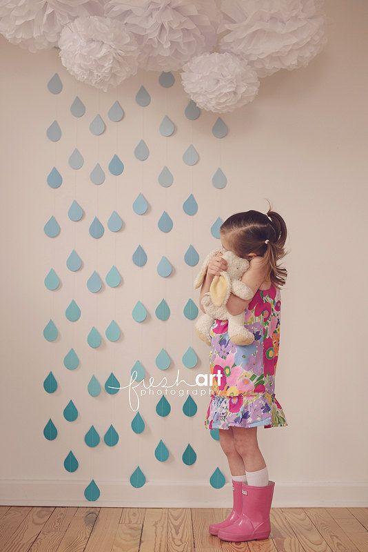 UNA lluvia gota Garland por PaperwhiteDesigns en Etsy