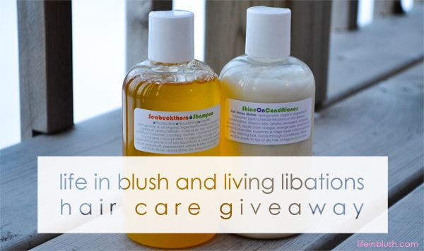 for your chance to win cult-favourite seabuckthorn shampoo & shine on conditioner by Living Libations go to www.lifeinblush.com and enter by February 8, 2014. Open to everyone!