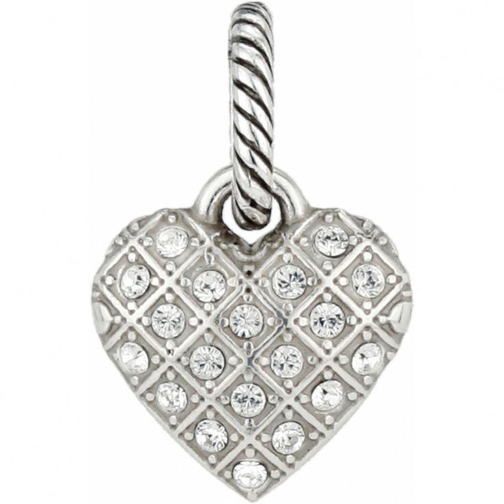 BRIGHTON J92312 Sparkly Diamond Heart Charm SIL