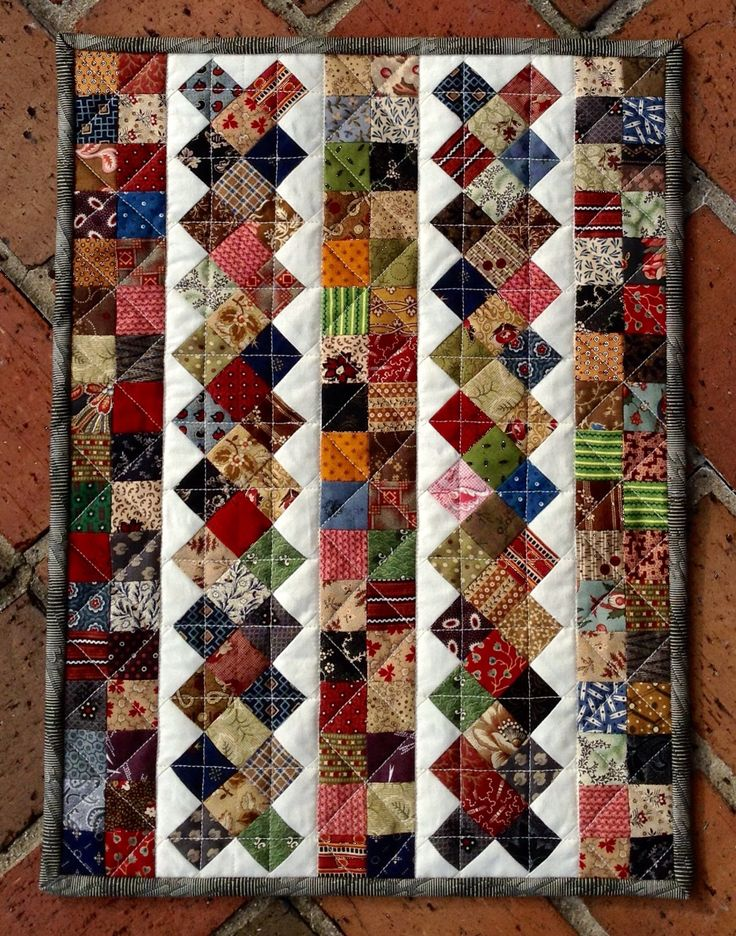 Cascadia - Great scrap quilt - plan to make this for the guest bed with the columns running horizontally.
