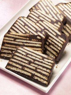 Kalter Hund - Ein schokoladiger Kuchen ohne Backen mit Butterkeksen f�r Kinder