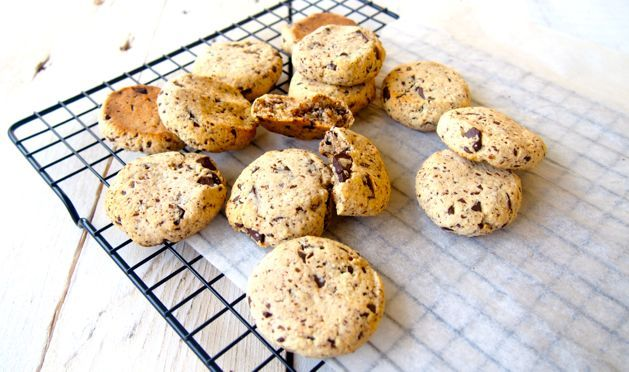 Gluten Free, Low Fructose Choc Chip Cookies.