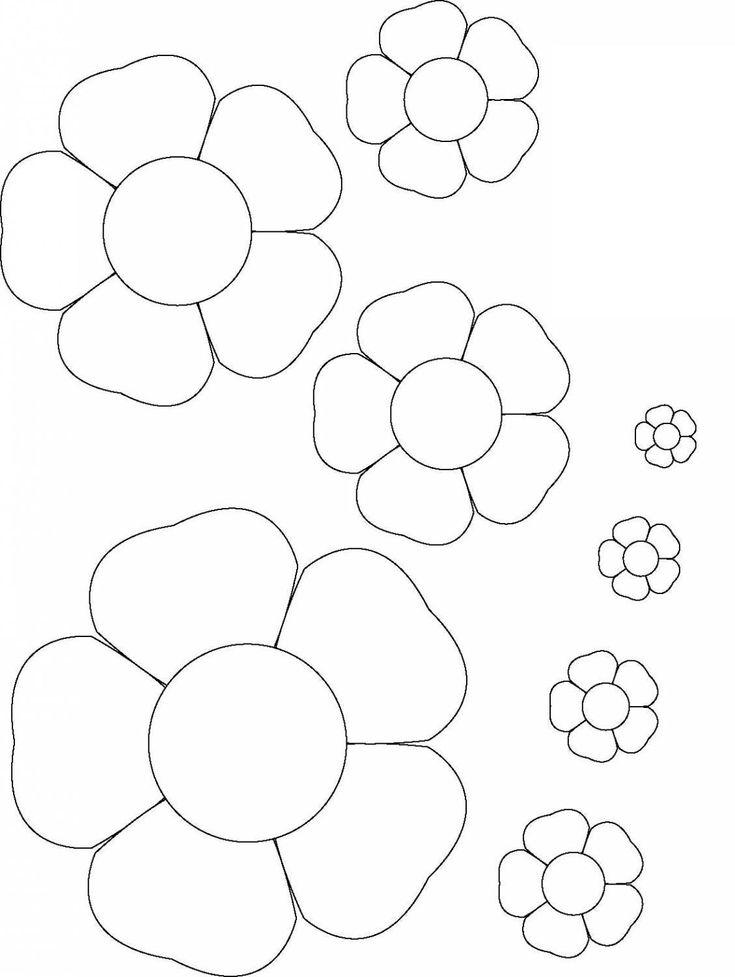 Днем рождения, шаблоны цветочек