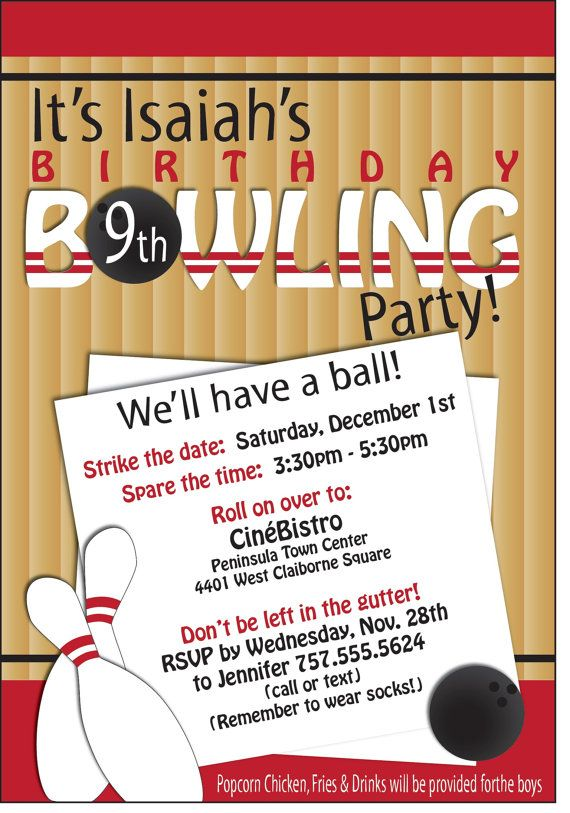 96 best bowling images on Pinterest Bowling, Birthday party - bowling flyer template free