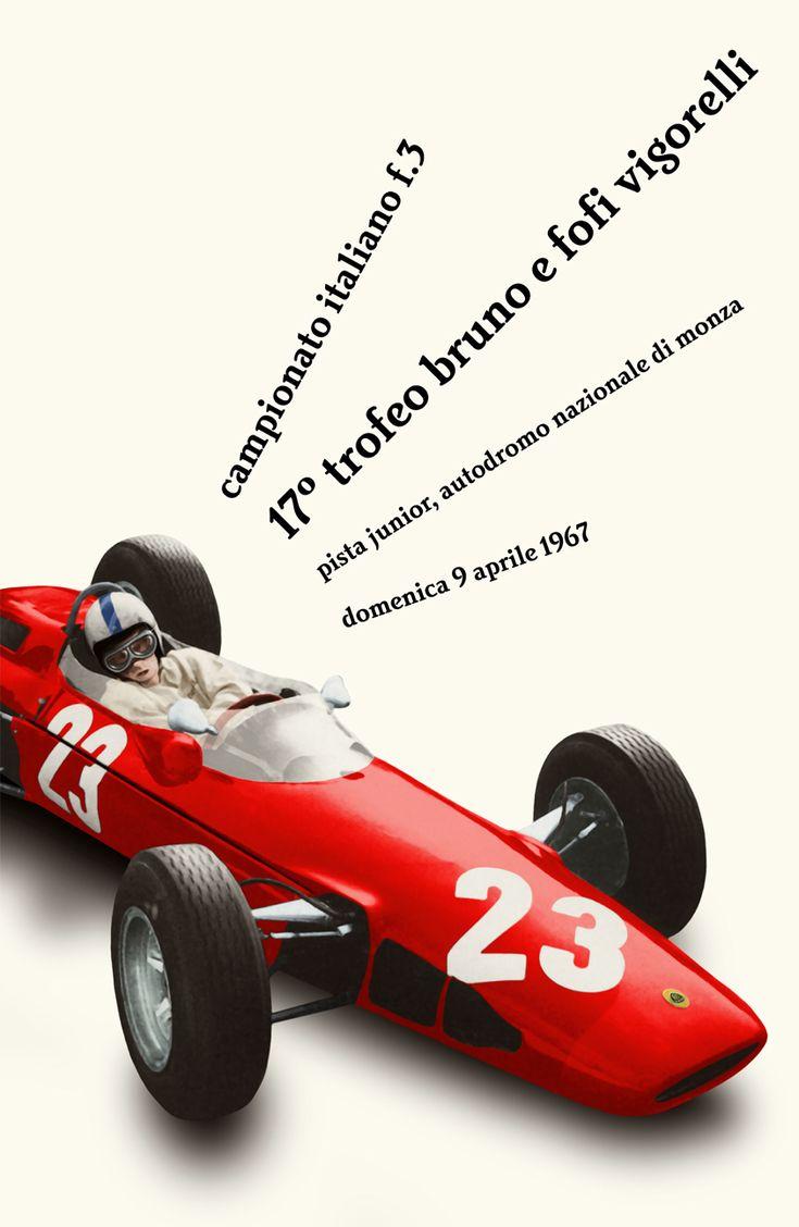 Cars silver racer poster 2 - 1967 Monza Antique Carsracingpostersmotorcyclemodels