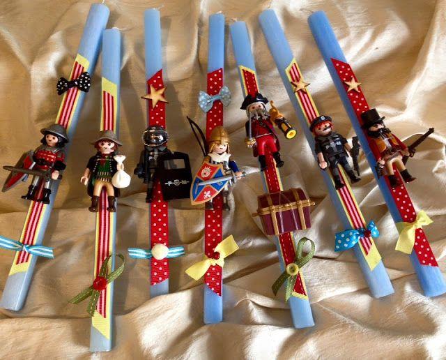 Crafts and me: Χειροποίητες λαμπάδες από την Ελένη