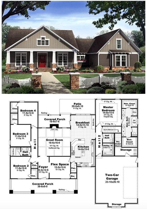 25+ best Bungalow house plans ideas on Pinterest Bungalow floor - bungalow floor plans