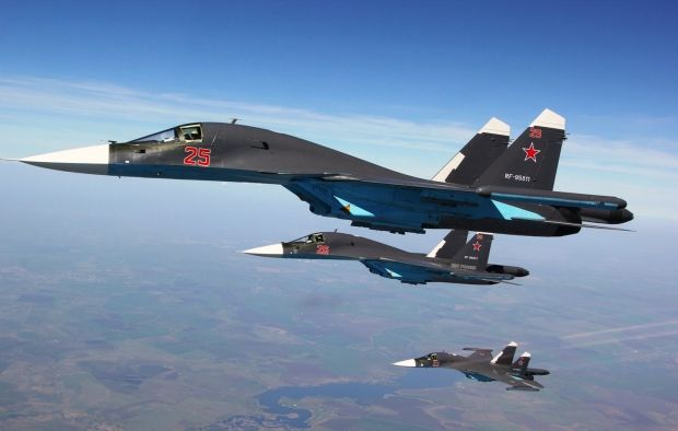 "Russia plans to build nearly two hundred fourth generation Sukhoi Su-34 ""Fullback"" attack bombers, of which 16 will be delivered to the Russian Air Force in 2015. Su-34 ""Fullbacks"" are gradually replacing Su-24 ""Fencer"". Their mass production is only part of the program to modernize 70% of Russian arms by 2020."