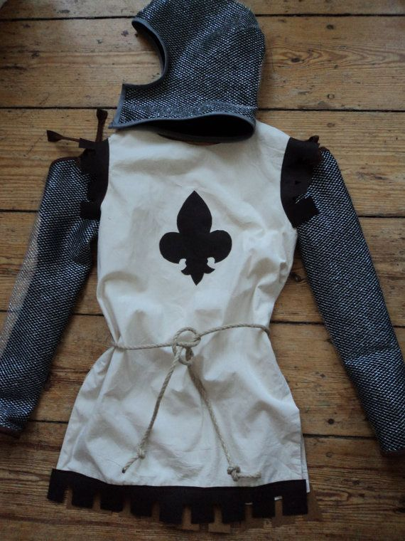 medieval tunic with tieon chainmail sleeves by PenelopesCostumes, $60.00