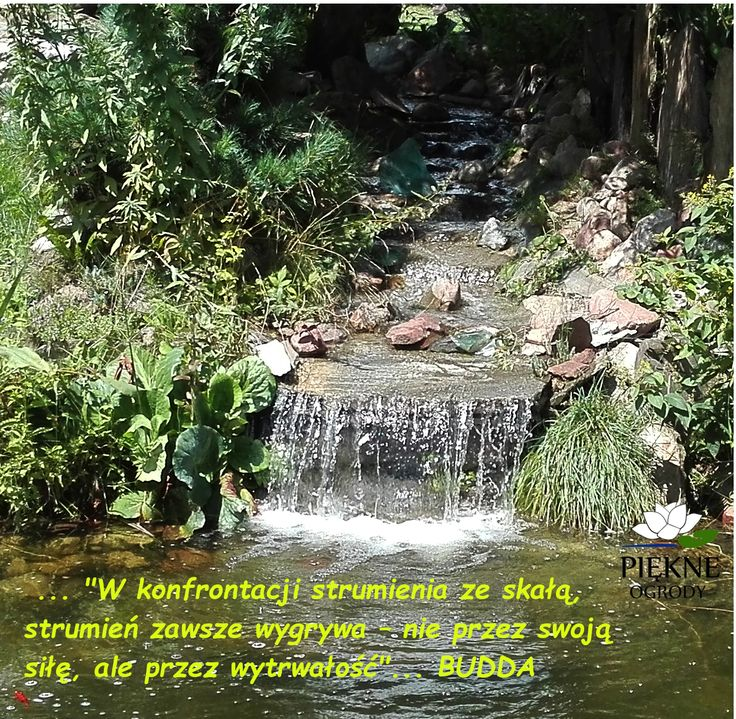 strumień w oczku wodnym to nie tylko element dekoracyjny ale i metafora życia i czasu.