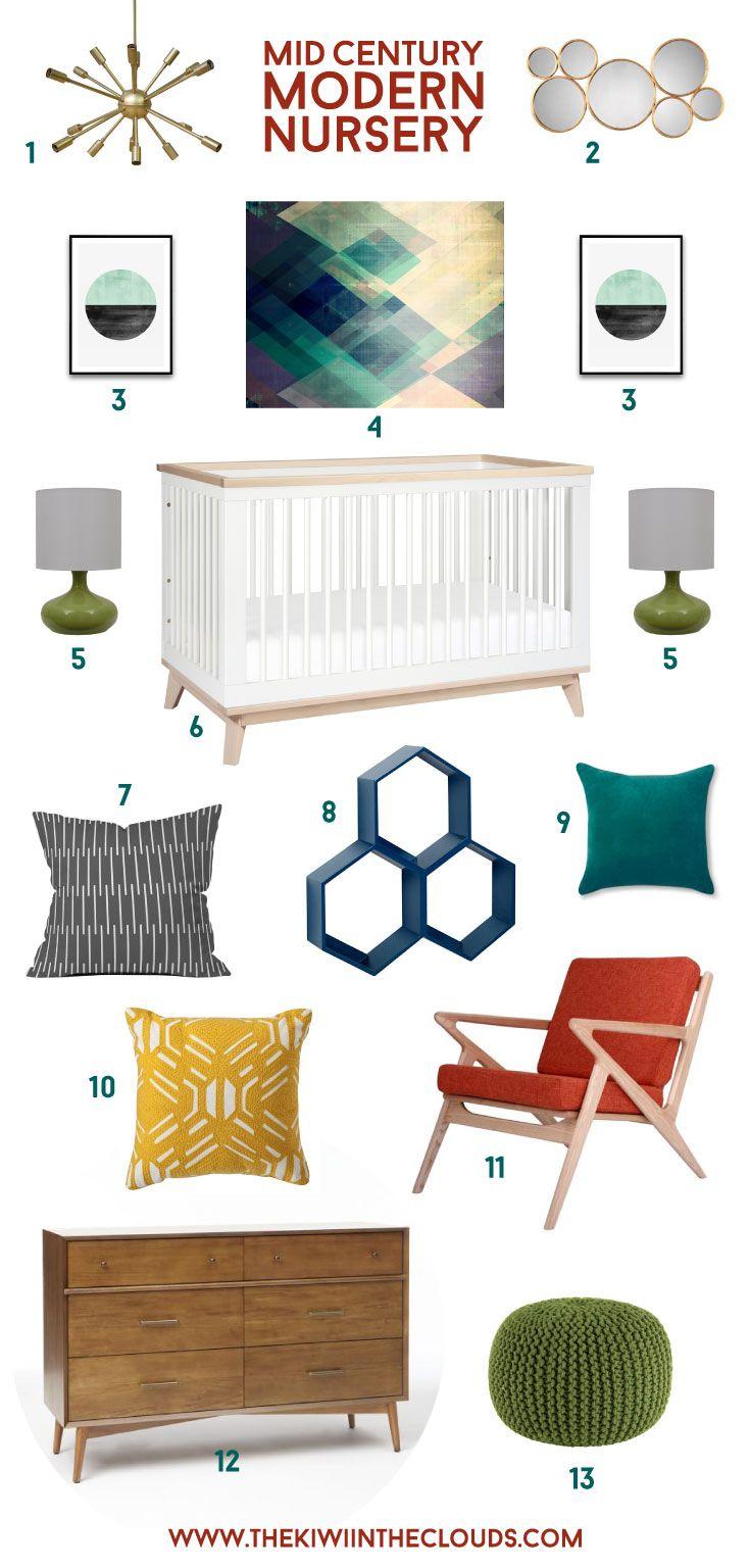 Mid century modern nursery decor ideas