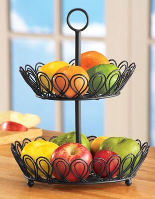 2 Tier Wire Kitchen Fruit Basket
