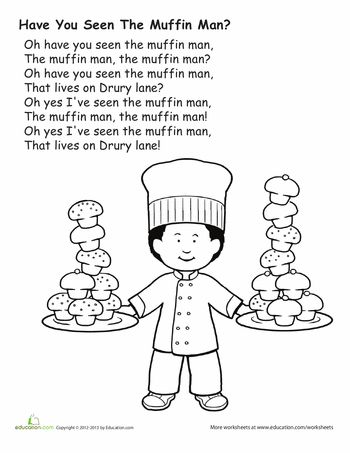 Worksheets: The Muffin Man