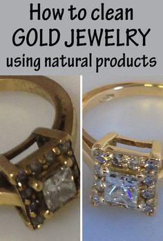 How to clean gold jewelry using natural products