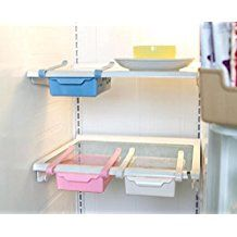 uctop Store multifunción Nevera Cajón rack de almacenamiento Congelador Estante de escritorio soporte cocina organizar rosa
