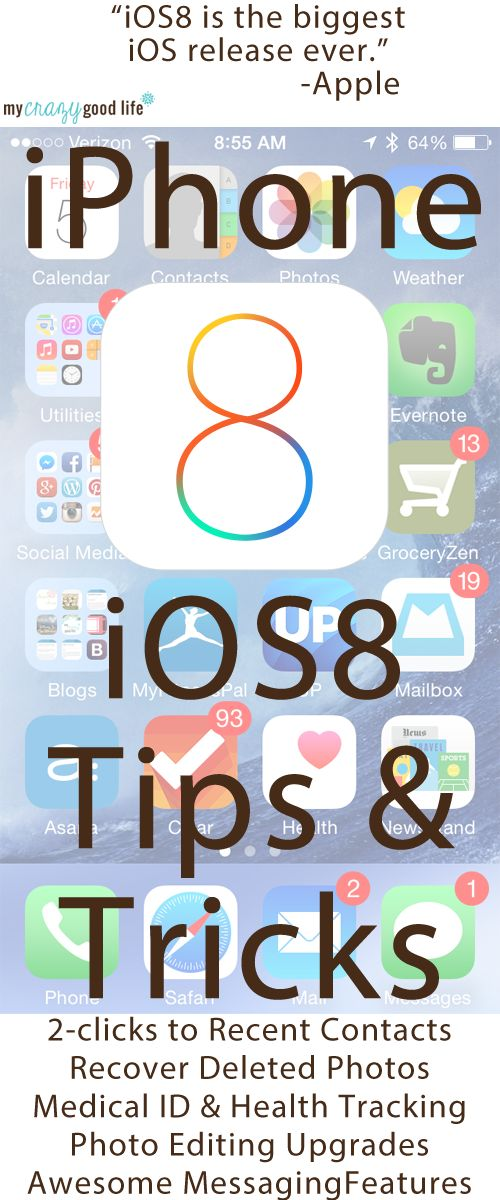 Apple's new iPhone operating system comes out soon. I have some iOS8 Tips and Tricks for you!  #iOS8 #iPhone #Apple