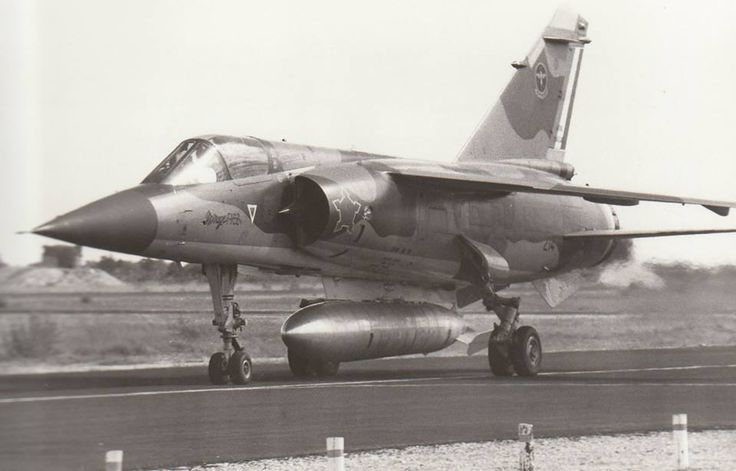 Here we have a 3 Sqn Mirage F1CZ taking off to escort the 12 Sqn Canberra's on a photo recon mission over Angola.