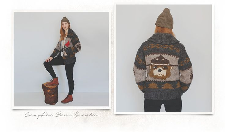 Camfire bear sweater.