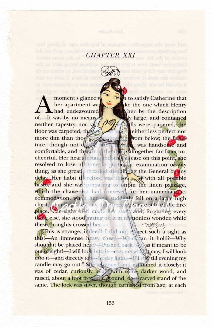 84 best intriguing northanger abbey images on pinterest period catherine morland original portrait painting on jane austen northanger abbey book page ccuart Gallery