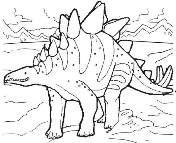 Stegosaurus Coloring Pages For Kids Dinosaur Coloring Pages Coloring Pages To Print Cartoon Coloring Pages