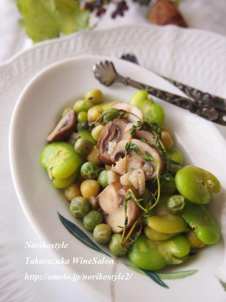 緑の豆とマッシュルームのガーリックソテー by 紀子   レシピサイト「Nadia   ナディア」プロの料理を無料で検索