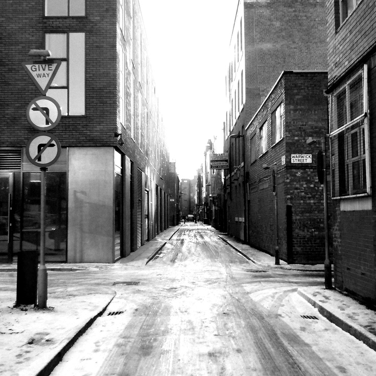 Manchester UK, Northern Quarter in the Winter