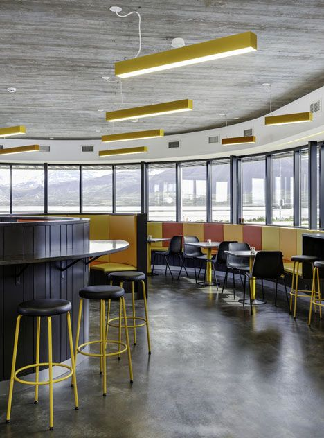 Drivers along a coastal road in Iceland can now stop at a curved concrete service station styled like an American diner by architects KRADS of Iceland and Denmark.