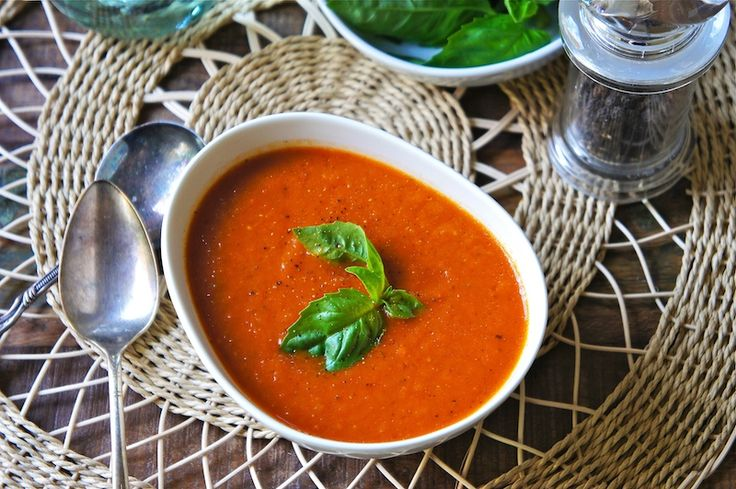 Seasaltwithfood: Tomato With Roasted Garlic And Basil Soup