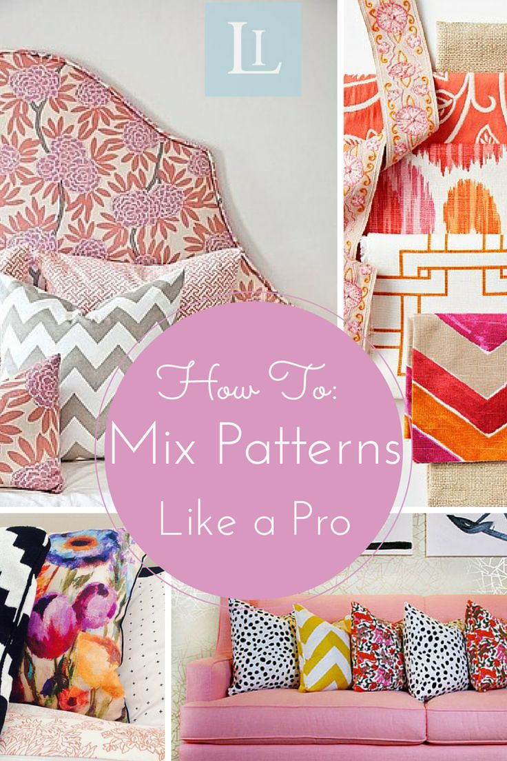 Pattern Playground: How to Mix Patterns in Your Home. Mixing patterns in a space is a great way to add interest, and personality while giving it a true designer look.  Here are a few guidelines to help you avoid a confused and uncoordinated look.  Keep in mind that the various patterns and colors don't need to be matchy-matchy, they just need to jive well together. #interiordesign #patterns #decor