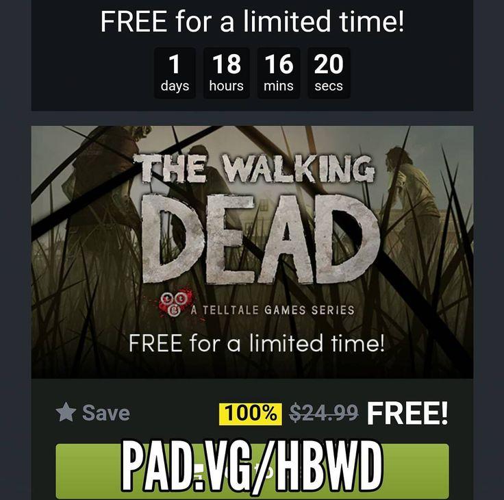 O jogo para o Steam The Walking Dead está de graça! Não só o primeiro episódio mas sim a toda a temporada! Aproveite em https://pad.vg/hbwd #gp #freegame #steam #giveaway