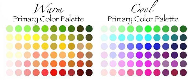warm-cool-skin-tone palettes