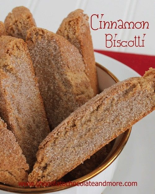 Cinnamon Sugar Biscotti-perfect for dunking and makes a great gift!