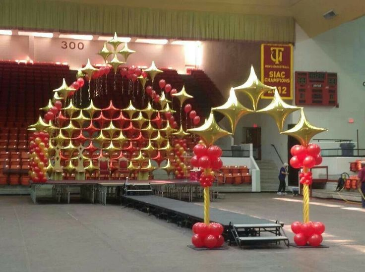 954 best images about balloon walls back drops on for Balloon decoration for stage