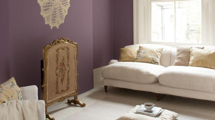 Violet and creamy whites create a dreamy, feminine mood.