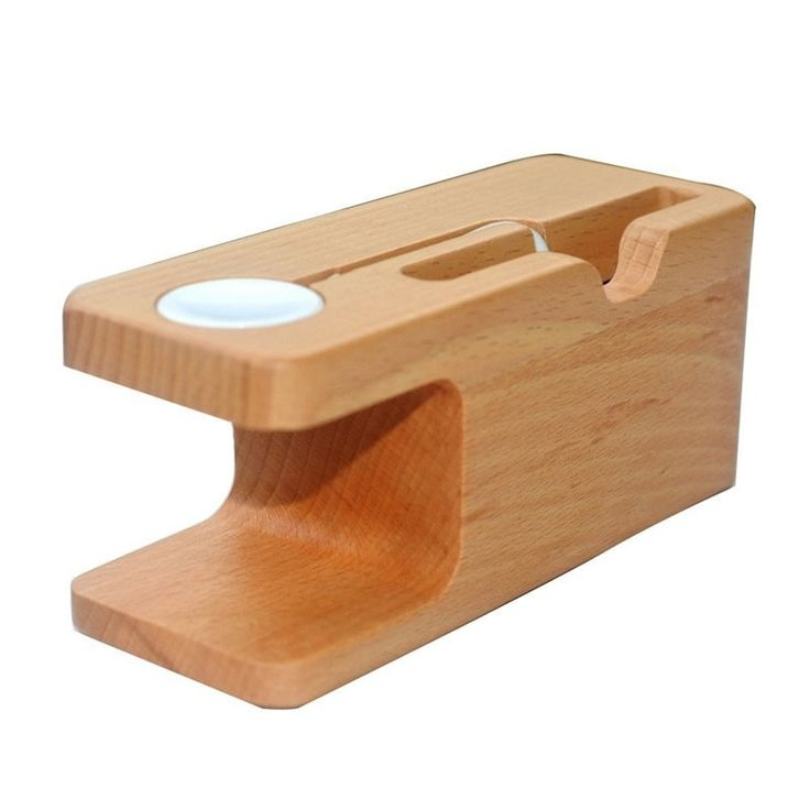 Bamboo Charging Station with iWatch Cradle