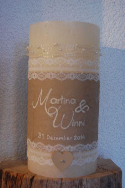 Hochzeitskerzen & Beleuchtung - Traukerze Reserviert für Naddl111187 - ein Designerstück von elinsART bei DaWanda