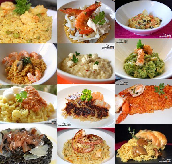 Doce recetas de arroz en paella