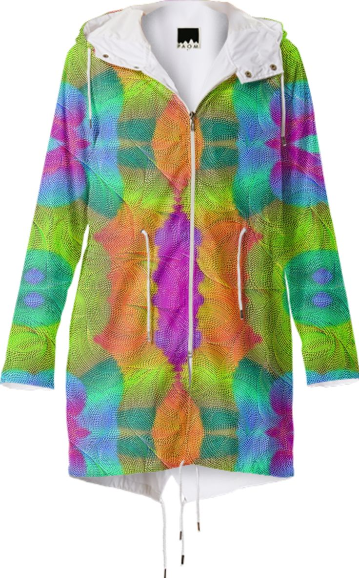 Raincoat in colorful symphony from Print All Over Me
