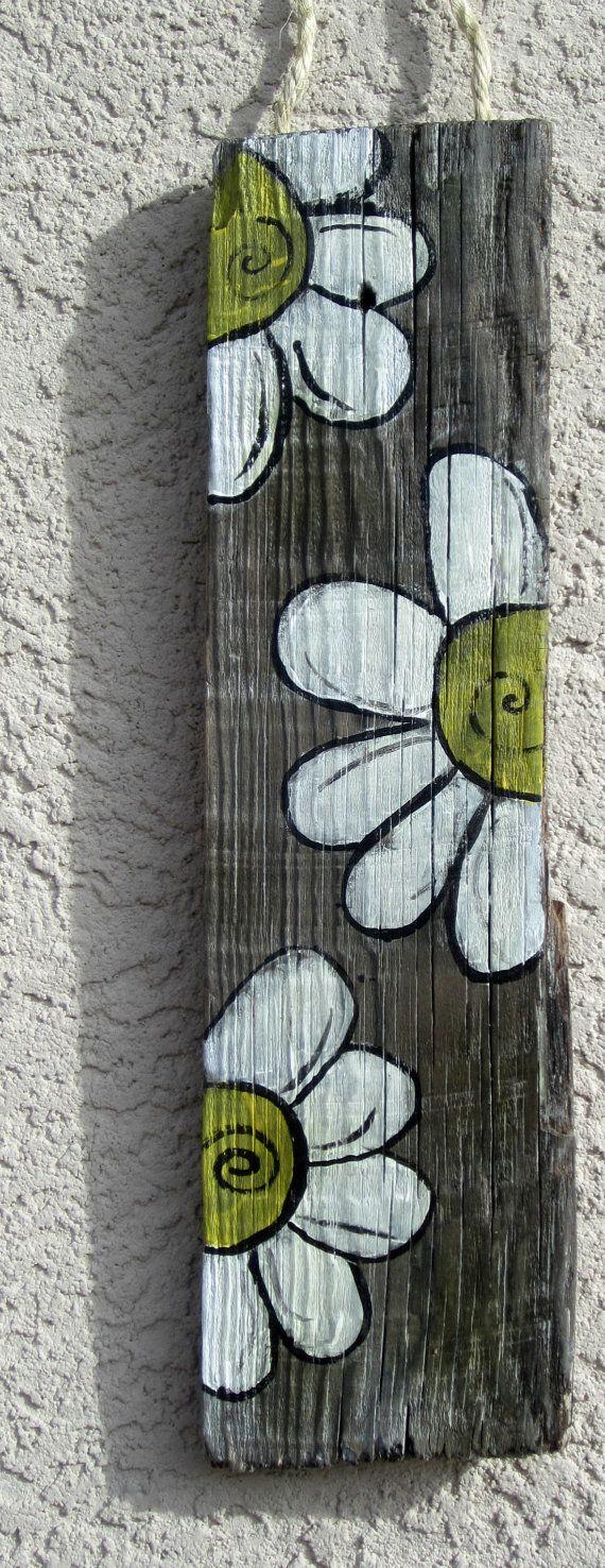 Weiße Blume Zeichen von RustyHeartDesign auf Etsy