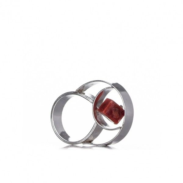 Silver contemporary ring - inspired from the Torii gates.
