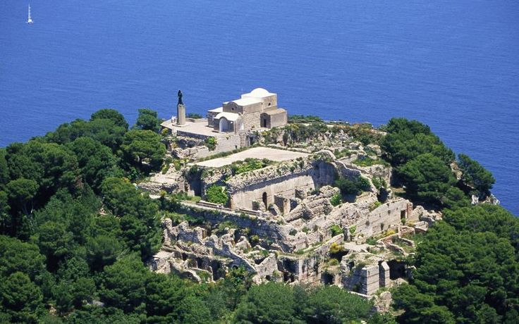 Villa Jovis, Capri  Built by emperor Tiberius