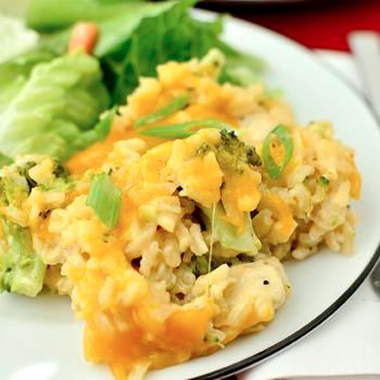 Skinny Cheesy Chicken & Broccoli-Rice Casserole Recipe