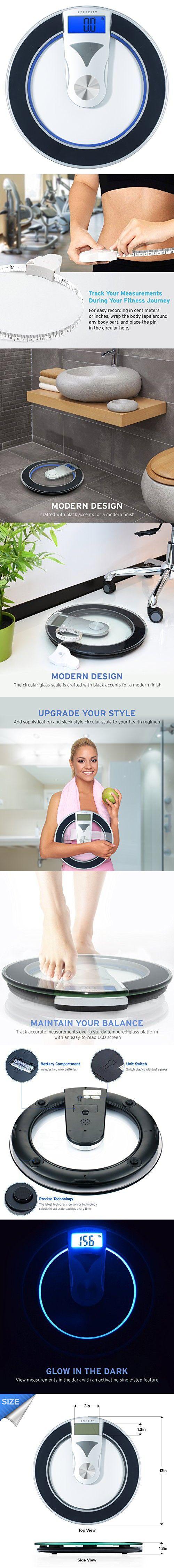 Website Picture Gallery Etekcity Digital Body Weight Bathroom Scale Modern Design Pounds Black