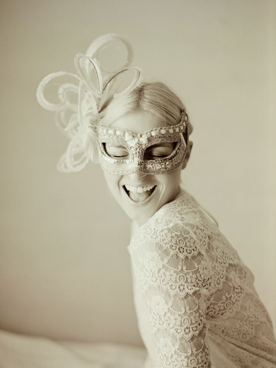 We love this gorgeous and classic lace #halloween costume! Happy Fall! Photo by Elizabeth Messina on Kiss the Groom.