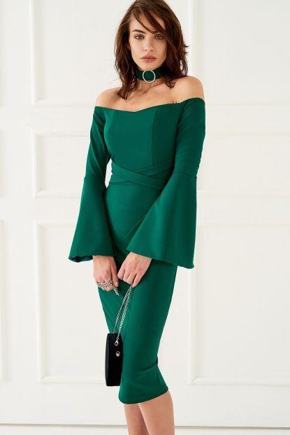 Zümrüt Yeşili Elbise
