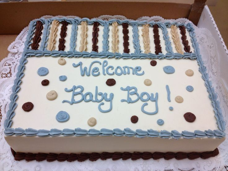 Babyshower sheet cake