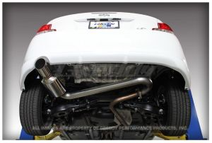 """GReddy Scion tC 2011-14 Evo3 Exhaust. Car Make:Scion  Car Model:tC  Car Year:2011-14    Rear-section 60-70mm single exhaust system, SUS304  *Retains catalytic convertor, front pipe and mid pipe  AGT20, 2AR-FE 2.5L  Number of pieces: 1  Piping: 60mm (2.36"""") - 70mm (2.76 in.)  Tip:102mm (4.0"""")  Resonator: No  Weight: 14.0 lbs  Sound level: 88db @ 4,650RPM  *Data collected on stock vehicle"""