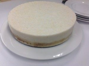 Lemon and Coconut Mousse Cake